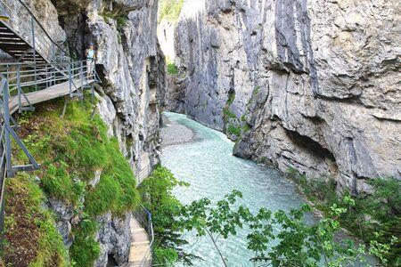 defile: Aare Gorge - Aareschlucht, near the town of Meiringen, in the Bernese Oberland region of Switzerland.