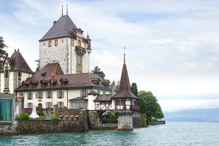 schloss: Oberhofen Castle - Schloss Oberhofen on Lake Thun.  Switzerland.