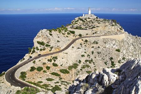 Formentor Lighthouse, Pollenca.  Mallorca Island, Balearic Islands, Spain.