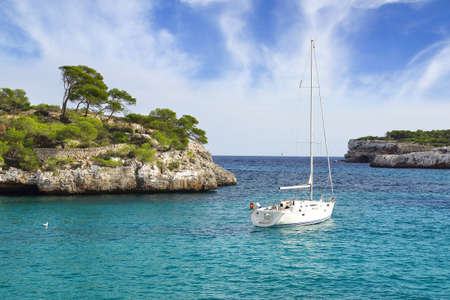 balearic: Picturesque sea landscape with bay. Mallorca, Balearic Islands in Spain