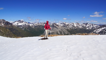 pers: The beautiful mountain landscape from Munt Pers 3207m. St. Moritz, Switzerland