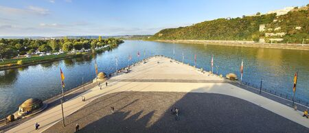 confluence: Confluence of Rhine and Mosel rivers in Koblenz.