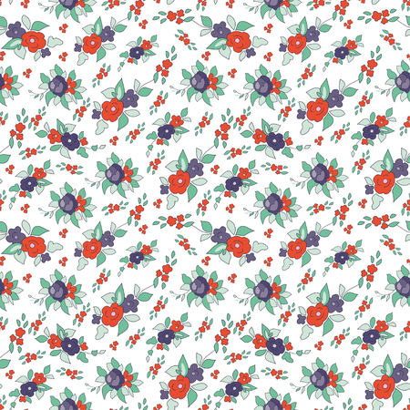 indefinite: Colorful seamless floral pattern made, vector illustration. Bright ornate illustration for wallpaper.