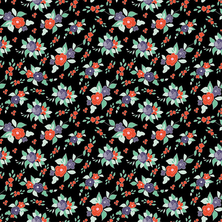 Colorful seamless floral pattern made, vector illustration. Bright ornate illustration for wallpaper.