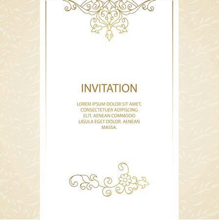 Vector cadre décoratif. élément élégant pour modèle de conception, place pour le texte. Floral border. décor de dentelle pour l'anniversaire et carte de voeux, invitation de mariage. Vecteurs