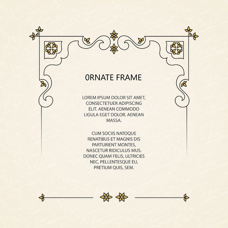 Vector decorative frame.