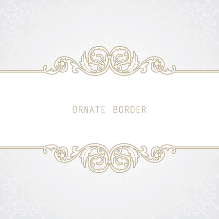 wedding decor: Vector decorative frame. Elegant element for design template, place for text.Floral border. Lace decor for birthday and greeting card, wedding invitation.