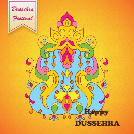 ravana: Dussehra festival background.Greeting card for Dussehra celebration in India.
