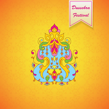 ramayan: Dussehra festival background.Greeting card for Dussehra celebration in India.