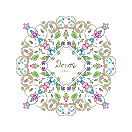 Vector gold ornamental decorative frame.