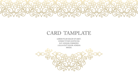 Ornate decor, border for islamic invitation, card. Flourishes ornaments cards.