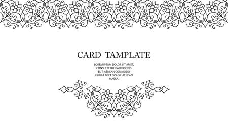 Ornate decor, border for islamic invitation, card. Flourishes ornaments cards.