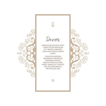 Vector decorative frame or birthday and greeting card, wedding invitation. Illustration