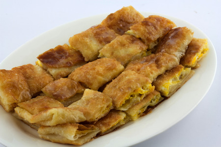 crispy pancake named -roti-,fr ied bread with butter and egg photo