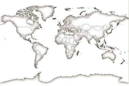 Maps on concrete background Archivio Fotografico