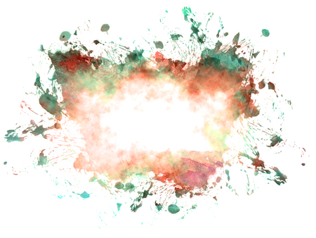 Abstract beautiful Colorful watercolor illustration painting background and backdrop.