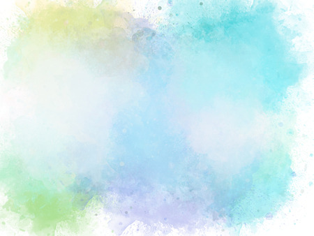 Abstract colorful brush on watercolor illustration painting background.