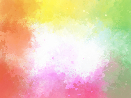 Abstract colorful brush on watercolor illustration painting background. Stok Fotoğraf - 124606893
