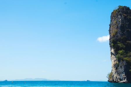 Beautiful Mountain peak and sea water in Krabi, Thailand. Stok Fotoğraf - 124606916
