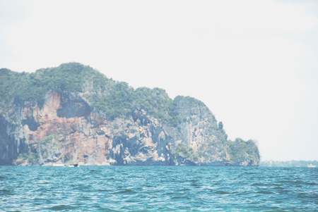 Beautiful Mountain range and sea water in Krabi, Thailand. Stok Fotoğraf - 124606922