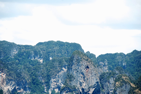 Beautiful green mountain range in Krabi, Thailand. Stok Fotoğraf - 124606925
