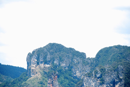 Beautiful green mountain range in Krabi, Thailand. Stok Fotoğraf - 124606927