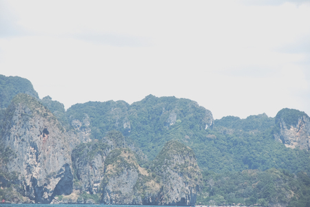 Beautiful green mountain range in Krabi, Thailand. Stok Fotoğraf - 124606931