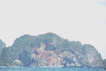Beautiful green mountain range in Krabi, Thailand.