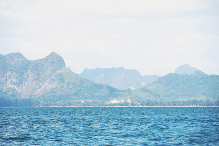 Beautiful Mountain range and sea water in Krabi, Thailand. Stok Fotoğraf - 124612132
