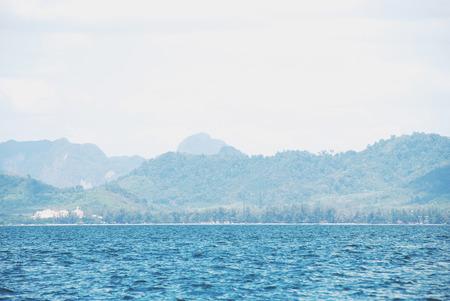 Beautiful Mountain range and sea water in Krabi, Thailand. Stok Fotoğraf - 124612134