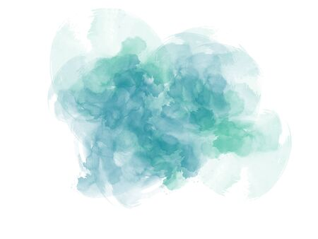 Abstract colorful shape on watercolor illustration painting background. Stok Fotoğraf - 126951479