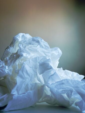 Close-up White junk paper mountain concept.