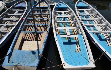 Old wooden boats photo