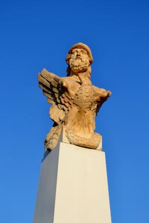 Bust of Cimon in Larnaca, Cyprus Stock Photo