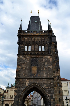 Old Town bridge tower in Prague photo