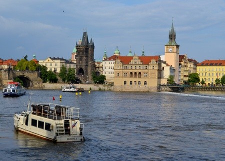 The Bedrich Smetana Museum in Prague and the mill photo