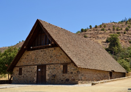 Old church with wooden roof photo