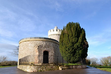 obscura: Clifton observatory with blue sky Editorial