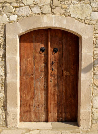 Old wooden door and wall