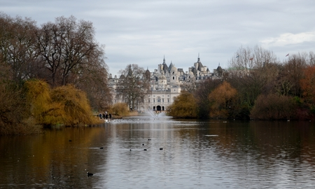 Water reflections from St  James park photo
