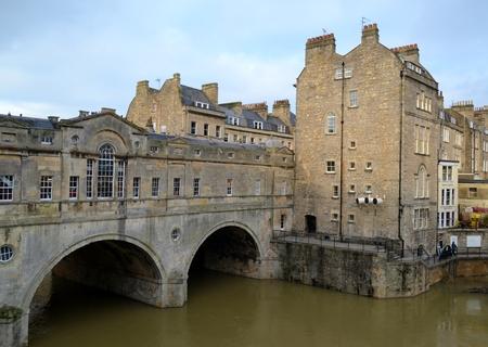 Bridge and buildings in Bath
