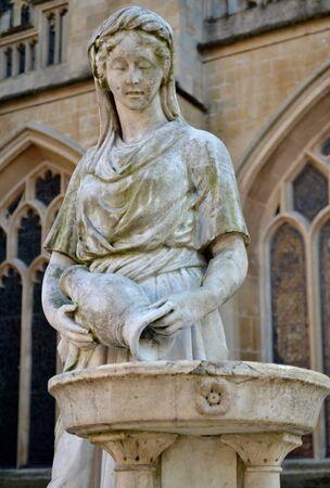 temperance: The temperance fountain statue in Bath  Stock Photo