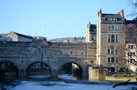 Bridge from Bath and blue sky photo