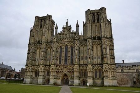 wells: Architecture from Wells cathedral and sky