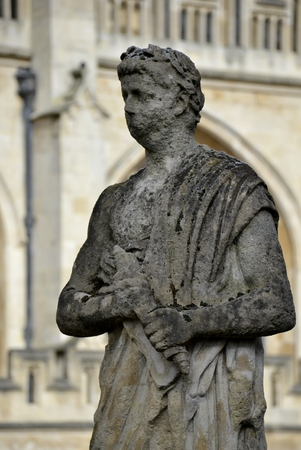 Old statues from Bath and background Stock Photo