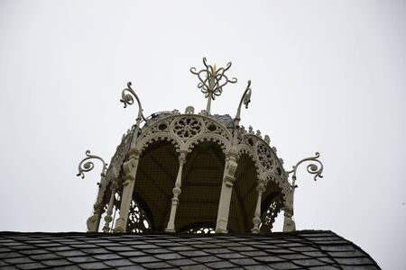 karlovy: Architecture from Karlovy Vary and sky