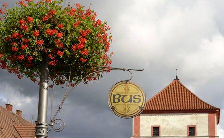 Architecture from Stara Boleslav and cloudy sky Stock Photo