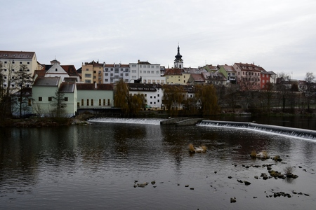 oldest: Architecture from Pisek and cloudy sky Stock Photo