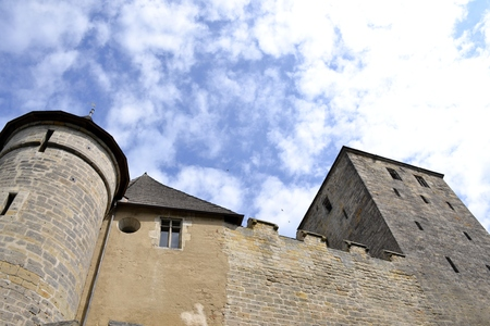 Architecture from Kost castle and cloudy sky