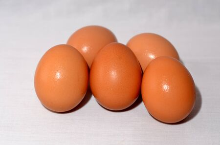 Details of isolated multiple eggs with white background